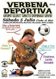 Cartel Verbena Deportiva Grupo Scout
