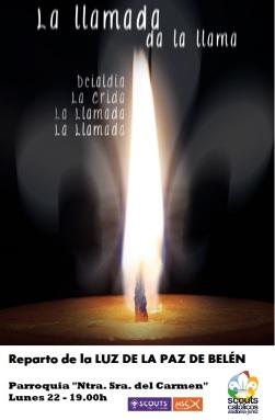 Cartel Luz Paz Belen 2014